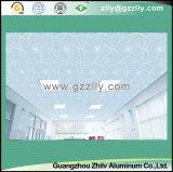 Sensación transparente con el techo helado textura del metal, techo de aluminio - la fortuna viene con las flores florecientes