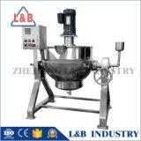 Chaleira de cozimento Jacketed dobro industrial com o misturador para o atolamento