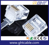 Gold-Plated штепсельная вилка кристалла Head/Rj12 Connectors/6p6c сети