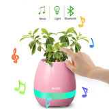 Het Spelen van de LEIDENE Slimme Muziek van de Aanraking Bloempot met Spreker Bluetooth