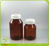 Botella plástica del animal doméstico 180ml del empaquetado plástico con el casquillo de la tapa del tirón