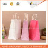 顧客用高品質のプラスチック上塗を施してあるクラフト紙袋