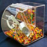 Caixa de armazenamento acrílica dos doces do supermercado da caixa de indicador do alimento (BTR-K4033)