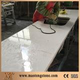 Pedra artificial branca pura de quartzo das bancadas das lajes das telhas