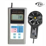 De digitale Industriële Meter van de Stroom van de Lucht van de Anemometer, de Snelheid van de Lucht, de Snelheid van de Wind, Temperatuur