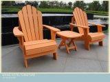 Las sillas de madera de la protección del medio ambiente fijaron para al aire libre y el jardín
