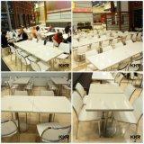 レストランの家具のアクリル樹脂の固体表面のダイニングテーブル