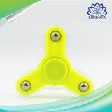 6 EDC van het Speelgoed van de Spinner van de Hand van kleuren friemelt de Goedkope Plastic TriVinger van het Cijfer Spinner