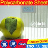 紫外線コーティングが付いている高品質の空のポリカーボネートのプラスチックシート