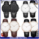 Stilvolle lederne Brücke-Uhr der Mode-Yxl-592, Quarz-Armbanduhr für Frauen und Männer