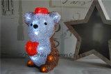 Indicatore luminoso acrilico delle decorazioni di natale con l'indicatore luminoso di legno di natale del LED