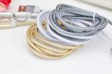 Chine usine de nylon isolé 8 broches foudre Câble USB pour Samsung