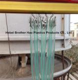 Cortina plegable para los cuartos limpios, cortina plegable del PVC del verde antiestático, pared suave transparente del PVC del claro antiestático del vidrio suave del ESD del PVC