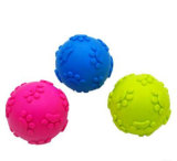 TPR LED Flashing Pet Toy Ball para Pet Dog Chew Rubber Ball Toy com sinos