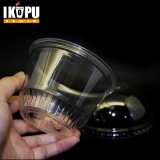 Gelado/copo plásticos descartáveis desobstruídos impressos costume do Yogurt