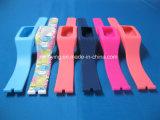 Logotipo de moda promocional Correias de borracha de silicone removíveis impressas para relógio