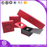 Rectángulo de joyería de empaquetado de papel del pendiente de la pulsera del collar del anillo