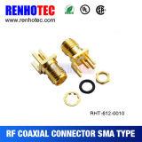 Connecteur femelle à angle droit d'antenne de WiFi de la noix SMA du connecteur SMA de rf