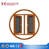Sistema de corte térmico Acristalamiento Ventana abatible con marco de aluminio