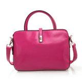 Frauen-lederner Handtaschen-echtes Leder-Form-Schulter-Aktenkoffer