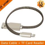 1명의 OTG Microsd 카드 판독기에 대하여 2 + iPhone iPad iPod 접촉 (YT-RC001)를 위한 비용을 부과 케이블
