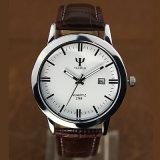 298 heiße Verkauf Yazole Mann-Leder-Uhr-Form wasserdicht mit Dattel