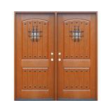 Лист двери стеклоткани двери Двойн-Листьев дуба