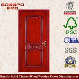 Porte en bois solide de type moderne pour la chambre à coucher (GSP2-045)