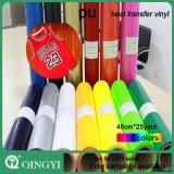 Qingyi mágico de la PU Heat Transfer de vinilo para la industria textil