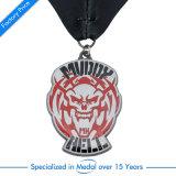 Medaglia d'argento di sport del premio di calcio/gioco del calcio dei ricordi su ordinazione dell'OEM