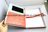 """4.3 """"内部ボックスが付いているLCDの挨拶状のビデオパンフレット"""