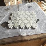 Stella del grado della parte superiore di disegno interno e prezzo di pietra di marmo bianco del mosaico di Carrara da vendere