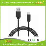 Zwart pvc USB 2.0 Type C om een Kabel van Gegevens te typen