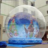 Globo umano gonfiabile gigante della neve di formato di promozione esterna per la cattura della foto