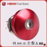 bouton poussoir de champignon de couche de diamètre de 19mm avec la DEL blanche