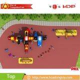 O campo de jogos ao ar livre do projeto o mais novo para miúdos