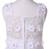 Organza/шифоновое платье девушки цветка конструктора для венчания и церемонии