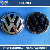 Emblema plateado cromo de encargo de la divisa de la insignia del coche del emblema de la etiqueta del coche del ABS para VW