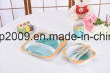 Eco freundliches Bambusfaser-Kind-Essgeschirr-Set