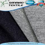 Tissu 100% français de denim de Knit de Terry de coton d'indigo
