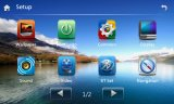 Mueca de dolor 6.0 Quad Core 2 DIN coche de la pantalla táctil capacitiva de navegación con Bt iPod 3G Vmcd FM Am para Lifan 320