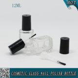 12ml svuotano la bottiglia UV del vetro da bottiglia del polacco di chiodo del gel con la spazzola per il polacco di chiodo