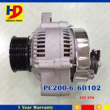 24V 35A 6D102 PC200-6 디젤 엔진 장비 발전기
