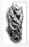 Etiqueta engomada temporal del tatuaje del arte de las etiquetas engomadas del tatuaje del brazo fresco del dragón 3D