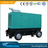 Diesel ajustado de geração elétrico silencioso Soundproof do gerador de Genset da produção de eletricidade