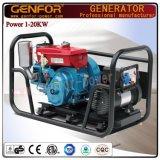 Комплект генератора 5kw Genfor генератора прямой связи с розничной торговлей фабрики тепловозный