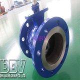 Type nu industriel robinet de Wcb V à tournant sphérique de flottement de bride