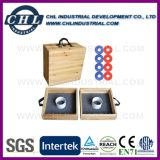 Juego de madera sólido de la sacudida de la arandela con la impresión modificada para requisitos particulares de la insignia