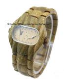 남자를 위한 아날로그 석영 이중 마스크 나무로 되는 시계