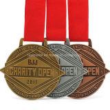 Medaglia personalizzata del premio di sport dell'argento e del rame dell'oro del metallo